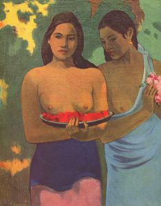http://tinyurl.com/ocvkvkc Two Tahitian Women by Paul Gauguin